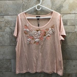 NWT Talbots Embroidered Top
